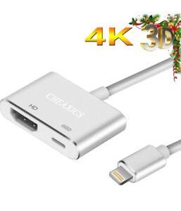 Lightning to HDMI, iphone HDMI Adapter, Lightning Digital AV Adapter for iPhone