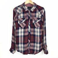 Rails Womens S 8 10 Chico Tartan Check Plaid Hunter Button Up Shirt (damaged)