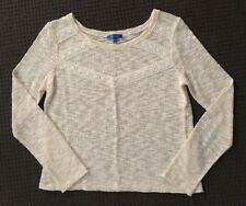 Valleygirl Lace Trim Knitted Top - Size Medium - Excellent Condition