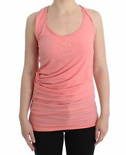 NWT CLASS ROBERTO CAVALLI Light Pink Cotton Tank Top Blouse Cami IT42/US8