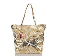 Large Betsey Johnson Snake Mystic Bookbag Shopper Tote Shoulderbag w/ Dustbag