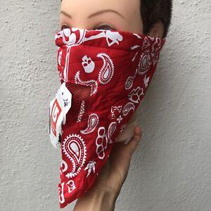 Burton Face Mask Scarf snowboard biker bandana Red