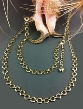 Belt 60's New Gold Color Rings Chain Adjustable All Sizes To 109cm Cosplay