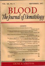 1957 Journal Hematology Blood Disorders Leukemia Lymphoma Malignancies Anemia