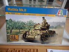 Modelkit Italeri Matilda MK II on 1:72 in Box