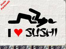 I Love Sushi Aufkleber Sticker JDM dub oem haters the Shocker 2 Farbig
