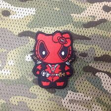 tactics Deadpool Hello Kitty embroidery morale patch