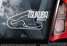 Circuito di Tsukuba-Finestra Auto Adesivo-Giappone alla deriva CIRCUITO DI BINARIO Honda Type R