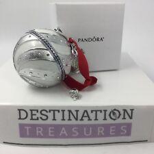 2018 PANDORA White Holiday Radio City Rockettes Ornament Charm 797649en23