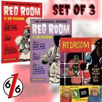 🚨😱 RED ROOM #1 SET OF 3 Main Cover & Ed Piskor 1:5 & Jim Rugg 1:12 Variant