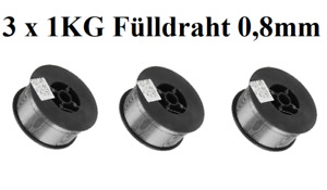 3 x 1KG Fülldraht 0,8mm SCHWEIßDRAHT MIG / MAG  -  E71T-1  FLUX CORED 3KG