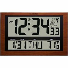 "513-1211A La Crosse Technology Jumbo Atomic Digital Clock Large 4"" Time Display"