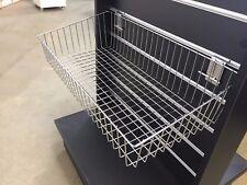 Slatwall Basket 600Lx300D Chrome
