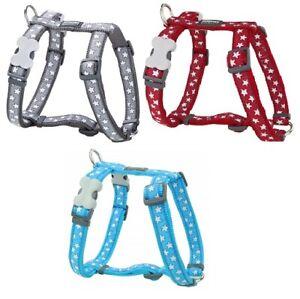 Red Dingo Stylish STAR Design Harness for Dog / Puppy XS - LG Adjustable
