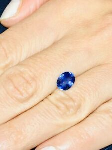 Unheated 1.75 carat AGL Natural Blue Sapphire •