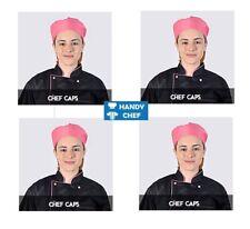 Chef Skull Caps - PINK - Premium Quality Chef Caps/ Chef Hats Pink