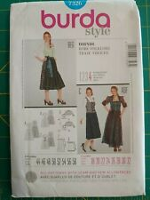 Burda 7326 German Dirndl Traditional Dress Oktoberfest Bar Maid Costume US 18-32