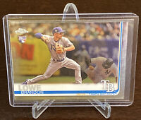 2019 Topps Chrome Brandon Lowe Rookie #151 Tampa Bay Rays Mint Clean RC