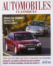 Automobiles classiques n°95 - 1999  - Mercedes S500 - Porsche Carrera 4 -