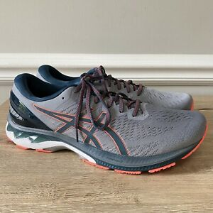 Asics Gel Kayano 27 Mens Size 14 Gray Blue Athletic Running Shoes Sneakers