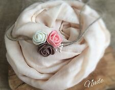 SET Soft Baby Wrap Swaddle Headband Baby Newborn Photography Photo Prop In Nude