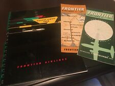 Frontier Airlines 1956 annual report plus timetables