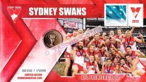 PNC Australia 2012 Sydney Swans AFL Premiers RAM $1 Coin Limited Edition 15000