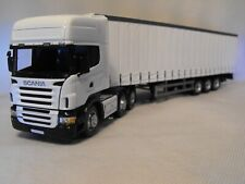MODEL SCANIA  ARTIC Articulated TRUCK CURTAINSIDER WHITE CAB TRAILER scale 1:50