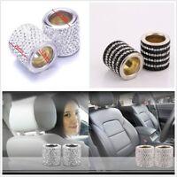 New 4 Pcs Bling Crystal Headrest Collars Car Truck Seat Ring Interior Decoration