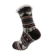 LADIES WARM THERMAL INSULATED THICK WINTER SOCKS 4.7 TOG UK 6-11 399D BROWN HEEL