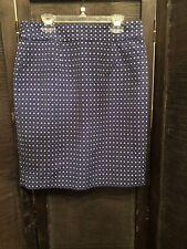 Banana Republic Blue And White Skirt Size 4 Petite NWT