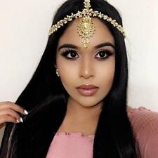ROYAL Gold Pearl Matha Patti Wedding Bridal Goddess Bohemian Boho Grecian Head C