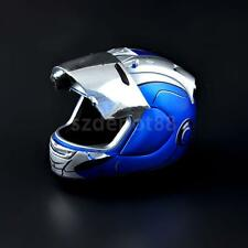 1/6 Scale Blue Motorcycle Helmet Visor For Hot Toys Iron Man Head Sculpt