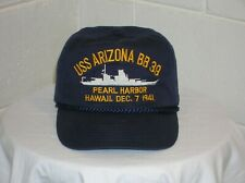 USS Arizona BB39 Baseball Cap. One Size Fits All