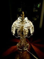 """Clear  Crystal Glass Night Light Lamp 10 1/2"""""""