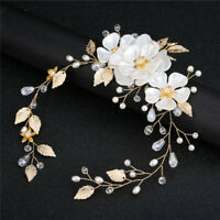 Leaf Handmade Tiara Jewelry Headdress Headpiece Pearl Headband Bridal Hairpin