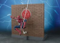 S.H.Figuarts Spider-man Homecoming & Tamashii Option Act Wall Action Figure New