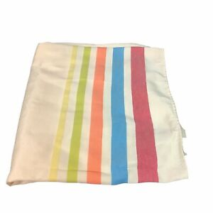 Homer Laughlin Fiesta Striped Tablecloth 60 x 102 Red Blue Orange Green Yellow