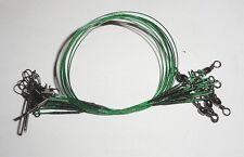 Lot de 40 bas de ligne aciers vert de 23 cm peche carnassiers