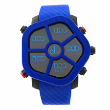 Jacob & Co. Ghost Carbon Bezel Blue Analog Quartz Men Watch GH100.11.NS.PC.ANE4D