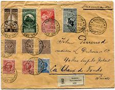 1911 Cinquantenario Unità d'Italia Serie Completa Busta RACCOMANDATA Svizzera RR