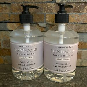 Set 2-Aroma Aria Hand Soap Pump-Soothing Chamomile-16.9 oz each-FREE SHIP