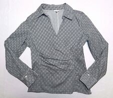 WOMENS cross over SHIRT blouse = TALBOTS = SIZE 10 = AA12