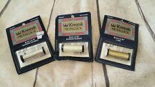 Kreinik Metallic Thread LOT 3 bobbins SILVER embroidery floss GOLD cross stitch