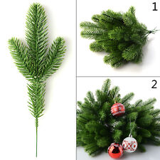 50pcs Artificial Pine Tree Branches Plastic Pine Leaves Christmas Decoration