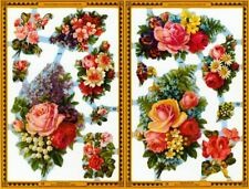 Mamelok Golden Victorian Scraps - Die Cuts - A91 / A92, Roses with Other Flowers
