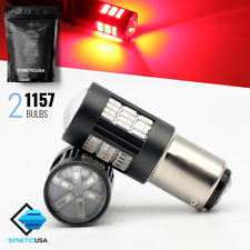 Syneticusa:1157/2057A 54-SMD 137LM Bright Red Brake Tail Stop LED Light Bulbs