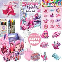 Girls Superhero Personalised Wedding Activity Pack Favour Gift Party Bags Boxes