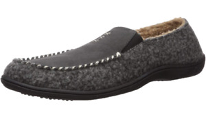 ACORN MEN'S CRAFTED MOC SLIPPERS ASH GRAY WOOL SZ 12 13 XL IN OUT DOOR NEW NWT