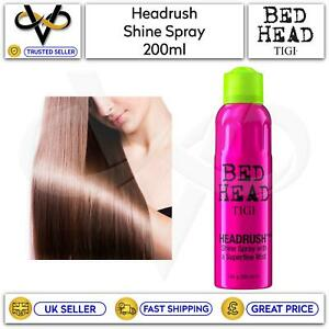 Tigi Bed Head Headrush Shine Spray With Superfine Mist 200ml Light Coverage